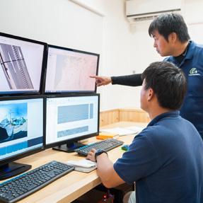 高い技術力による探査・調査・解析
